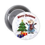Botón del muñeco de nieve de las Felices Navidad Pin