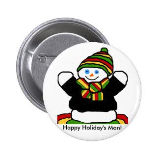 Botón del muñeco de nieve del reggae