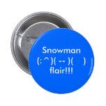 Botón del muñeco de nieve pin
