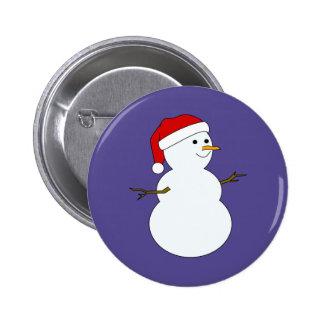 botón del muñeco de nieve redondo pin redondo de 2 pulgadas