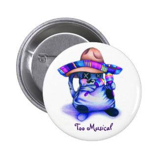 """""""Botón del Musical de la Sustancia pegajosa-Demasi Pin Redondo De 2 Pulgadas"""