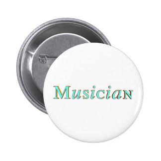 Botón del músico del boda pin redondo de 2 pulgadas