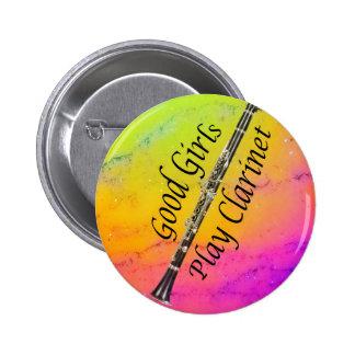 Botón del músico del Clarinet SU TEXTO Pin Redondo De 2 Pulgadas