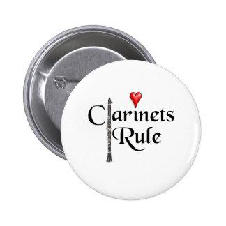 Botón del músico del jugador del Clarinet CUALQUIE Pin Redondo De 2 Pulgadas