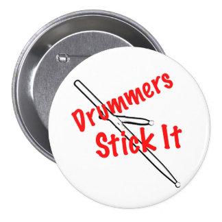 Botón del músico del tambor del batería pin redondo de 3 pulgadas