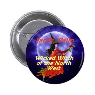 Botón del nanovatio de la bruja de Palin Pins