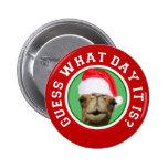 Botón del navidad de Santa del camello del día de  Pins