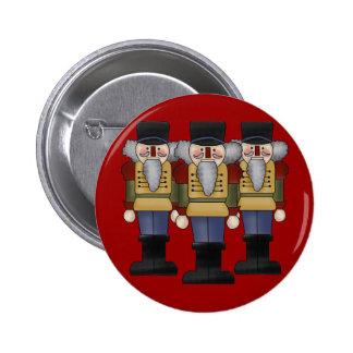 Botón del navidad del cascanueces pin redondo de 2 pulgadas