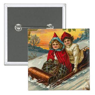 Botón del navidad del Victorian Pin