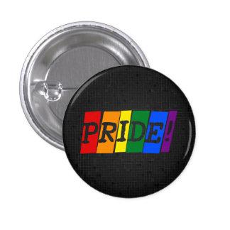 Botón del negro del orgullo del arco iris de LGBT