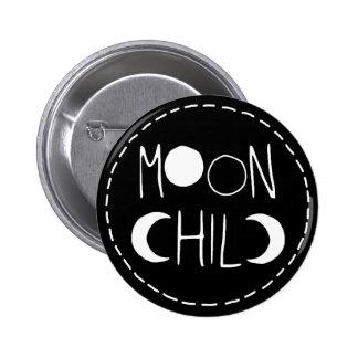 Botón del niño de luna pin redondo de 2 pulgadas