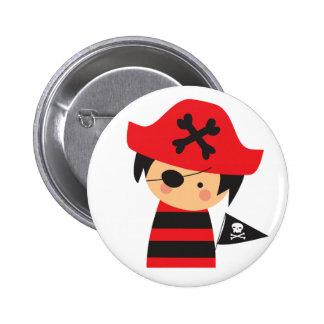 Botón del niño del pirata pin redondo de 2 pulgadas