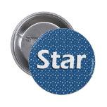 Botón del nombre de estrella pin