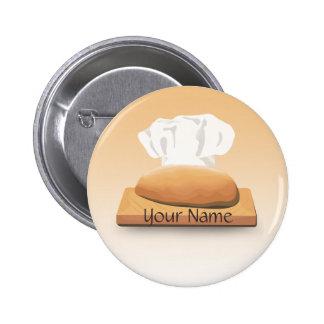 Botón del nombre de la panadería del pan