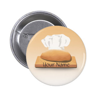 Botón del nombre de la panadería del pan pin redondo de 2 pulgadas