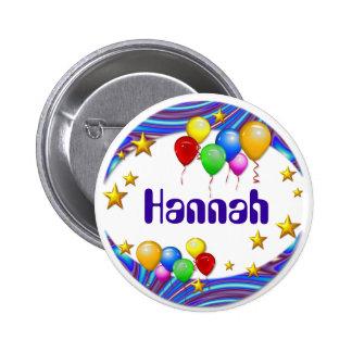 Botón del nombre del ~ de los globos y de las estr pin