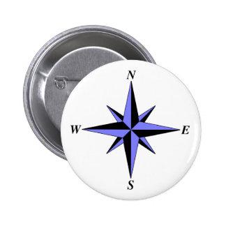 Botón del norte azul de la flecha pins