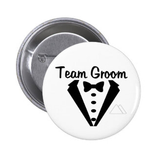 Botón del novio del equipo pins