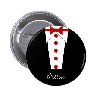 Botón del novio (rojo)