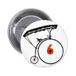 Botón del número 6 - el preso - bicicleta pin