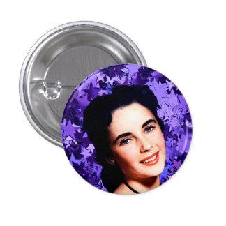 Botón del Nymphet de Elizabeth Taylor Pin Redondo De 1 Pulgada