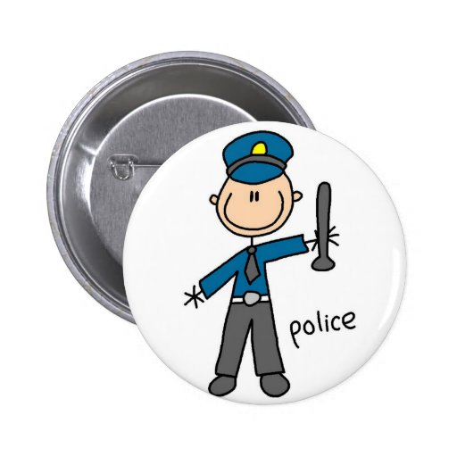 Botón del oficial de policía pins