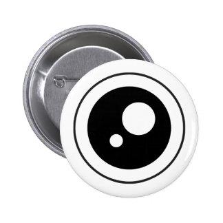 Botón del ojo 01 de Cartoony Pin Redondo De 2 Pulgadas