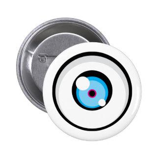 Botón del ojo 03 de Cartoony Pin Redondo De 2 Pulgadas