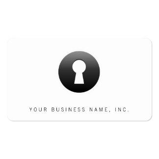 Botón del ojo de la cerradura tarjetas de visita