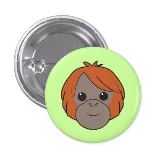 Botón del orangután de Sumatran Pin Redondo De 1 Pulgada