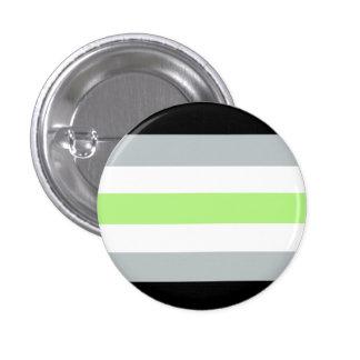 Botón del orgullo de Agender Pin Redondo De 1 Pulgada