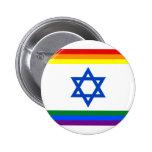 Botón del orgullo de Israel LGBT Pin Redondo De 2 Pulgadas