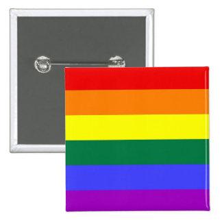 Botón del orgullo de LGBT (cuadrado) Pin Cuadrado