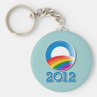 Botón del orgullo de Obama 2012 Llavero