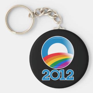 Botón del orgullo de Obama 2012 Llaveros Personalizados