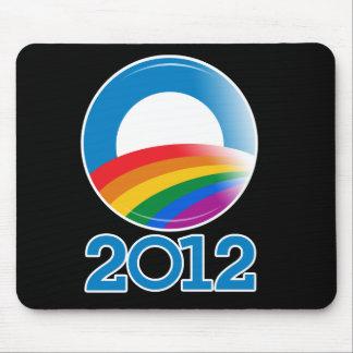 Botón del orgullo de Obama 2012 Tapetes De Raton