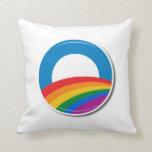 Botón del orgullo de Obama - Almohada
