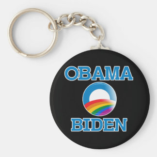 Botón del orgullo de Obama Biden Llavero