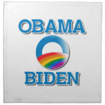 Botón del orgullo de Obama Biden Servilleta Imprimida