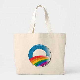 Botón del orgullo de Obama Bolsa Tela Grande
