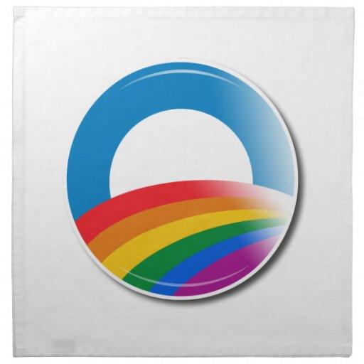 Botón del orgullo de Obama Servilletas Imprimidas