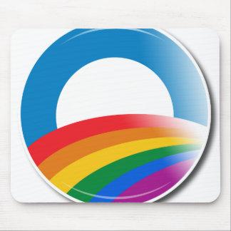 Botón del orgullo de Obama Tapete De Raton