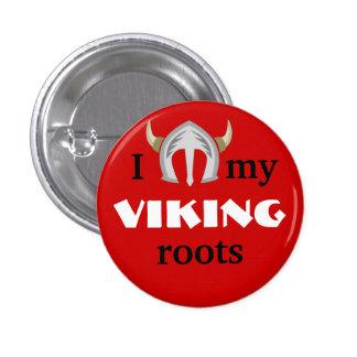 Botón del orgullo de Viking Pin Redondo De 1 Pulgada