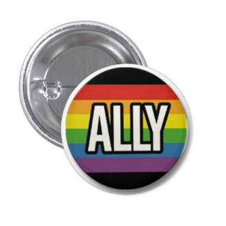 Botón del orgullo del aliado