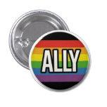 Botón del orgullo del aliado pin