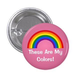 Botón del orgullo del arco iris de LGBT