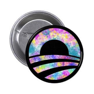 Botón del orgullo gay del arco iris del teñido anu pin redondo de 2 pulgadas