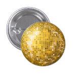 Botón del oro de la bola de discoteca