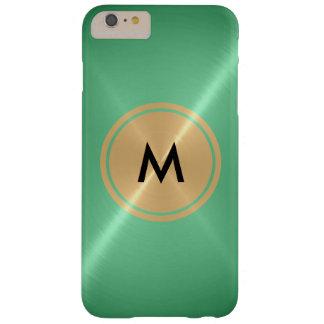 Botón del oro y metal del acero inoxidable de la funda para iPhone 6 plus barely there