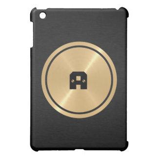 Botón del oro y metal negro del acero inoxidable